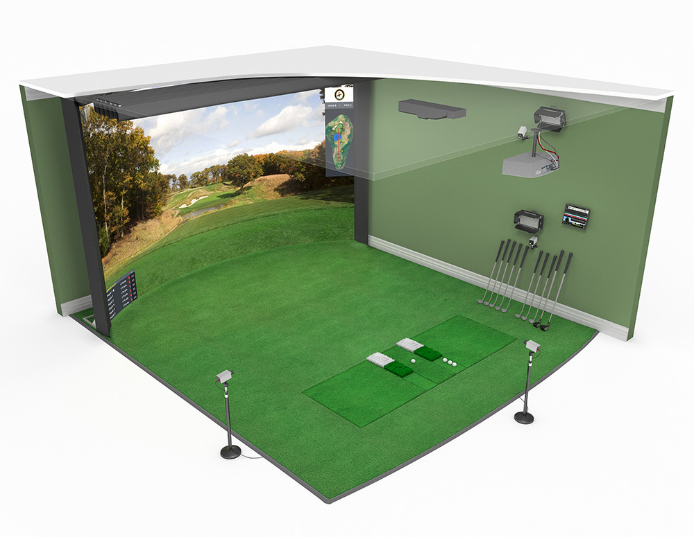 High Definition Golf Simulator Model 16:10 Curved Screen is available in a variety of sizes