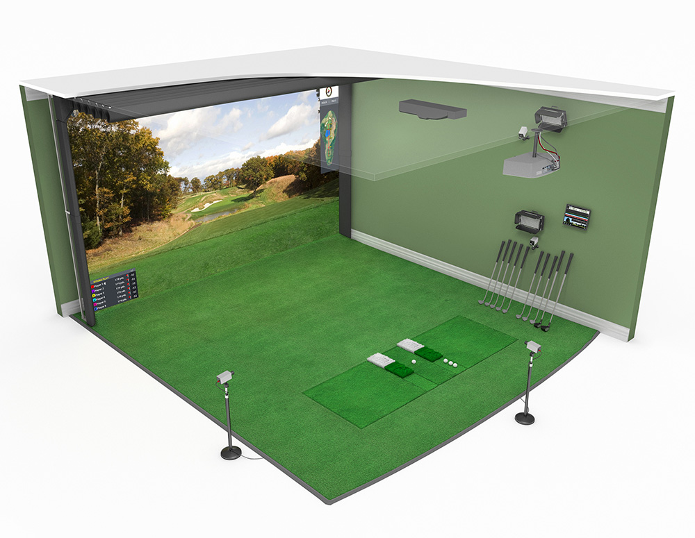 High Definition Golf Simulator Model 16:10 Flat Wide Screen is available in a variety of sizes